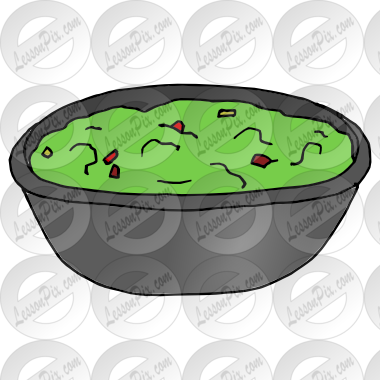 Guacamole Picture for Classroom / Therapy Use.