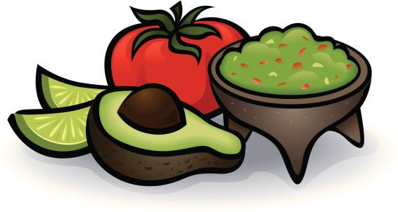 Guacamole Clip Art, Vector Images & Illustrations.