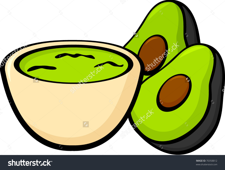 Guacamole Avocados Stock Vector 70358812.