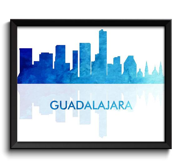 Guadalajara woman clipart in blue suit.