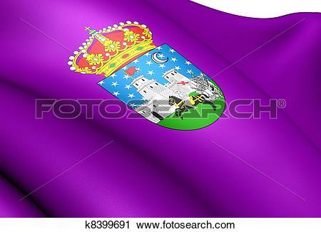 Clipart of Flag of Guadalajara City, Spain. k8399691.