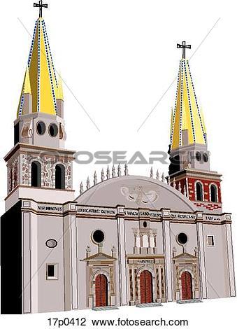 Clipart of Catedral de Guadalajara 17p0412.
