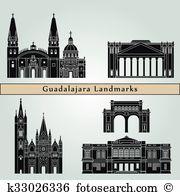 Guadalajara Clip Art Vector Graphics. 35 guadalajara EPS clipart.