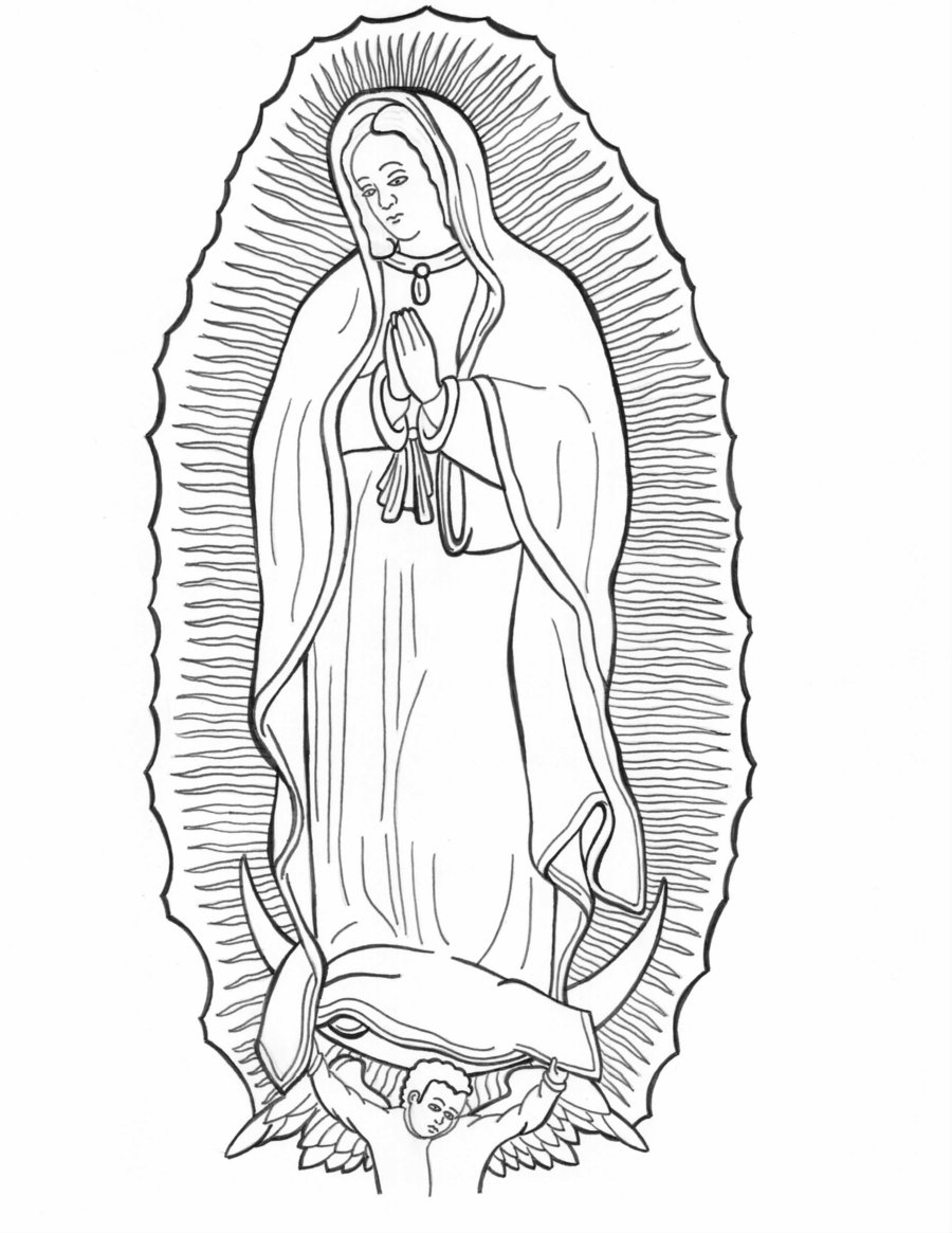 Our lady of guadalupe clipart color.