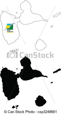 Vector Clip Art of guadeloupe.
