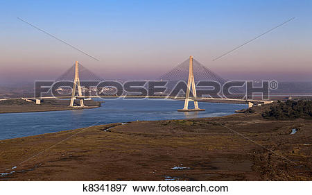 Picture of Bridge over the Guadiana River in Ayamonte k8341897.