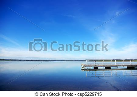 Stock Images of Anchorage in the river Guadiana Barrage of Alqueva.