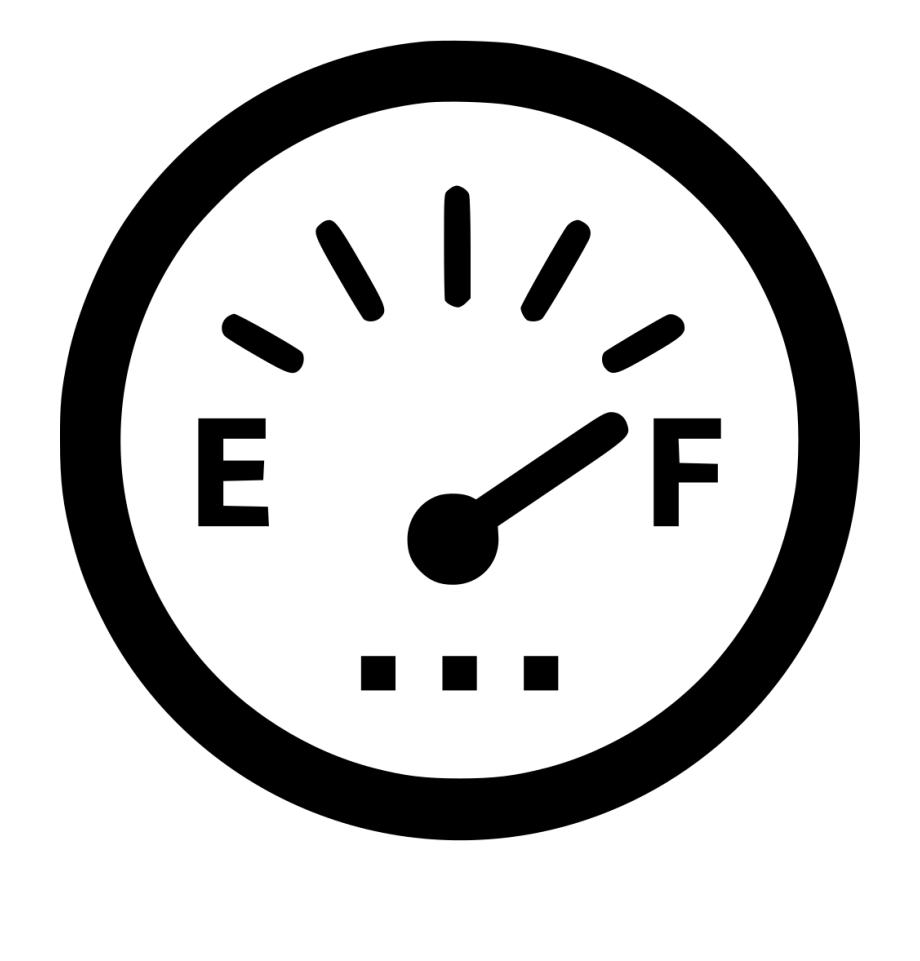Transparent Fuel Gauge Clipart.
