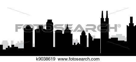 Stock Illustration of Guangzhou skyline china k9038619.
