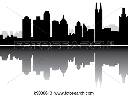 Drawing of Guangzhou skyline china k9038613.
