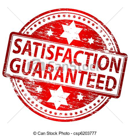 Satisfaction guaranteed Illustrations and Clipart. 13,921.