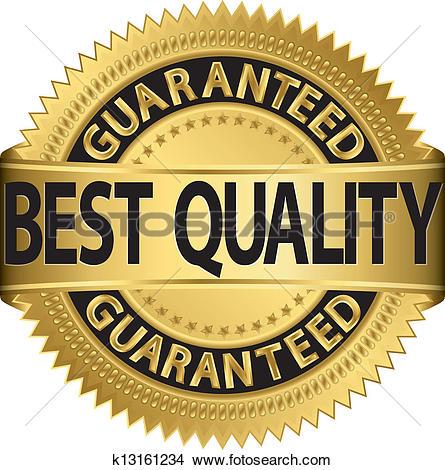 Clip Art of Highest quality guaranteed golden l k13865566.