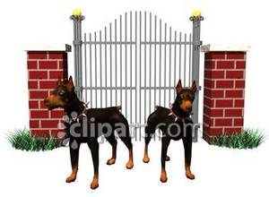 Guard dog clipart.