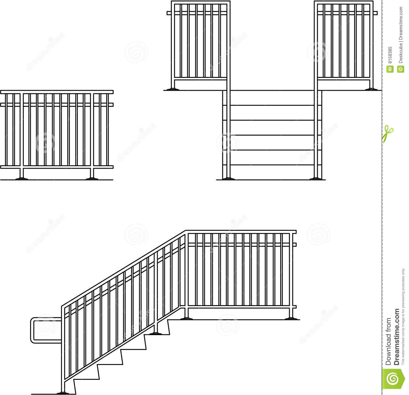 Hand Guard Rail Illustration 8158385.