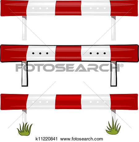 Clipart of Illustration of a guardrail. eps10 k11220841.