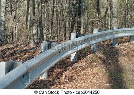 Stock Photography of guardrail.