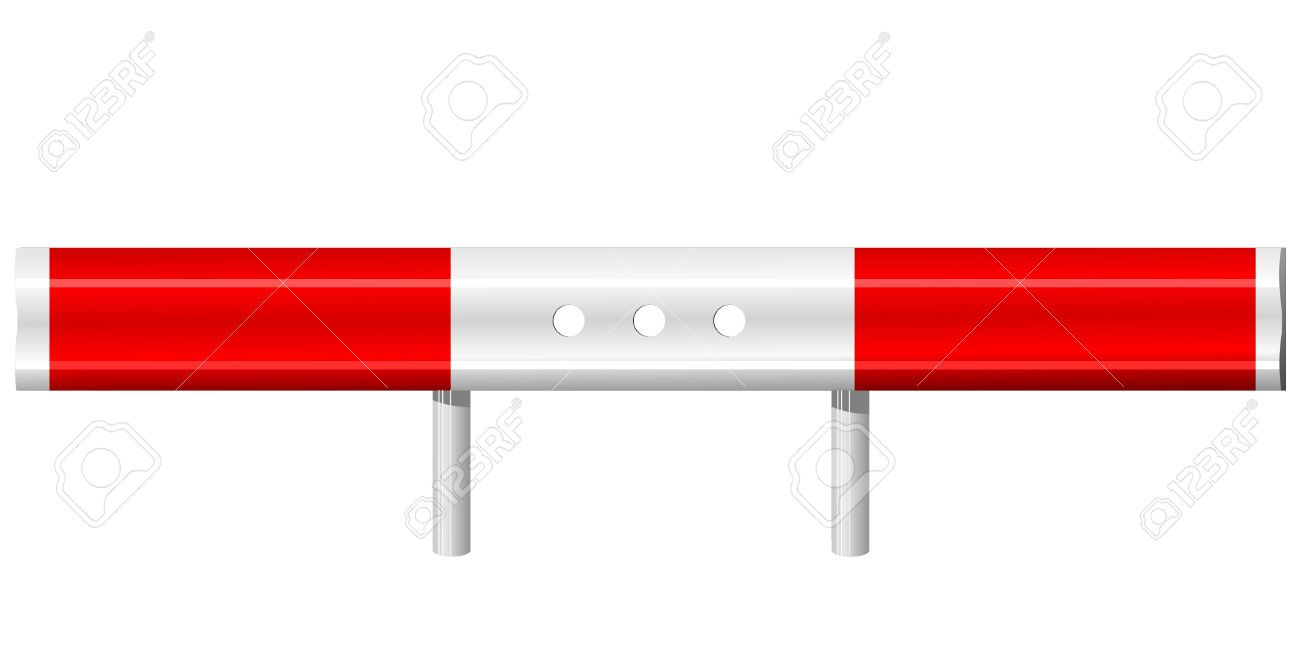 Vector Illustration Of A Guardrail Royalty Free Cliparts, Vectors.