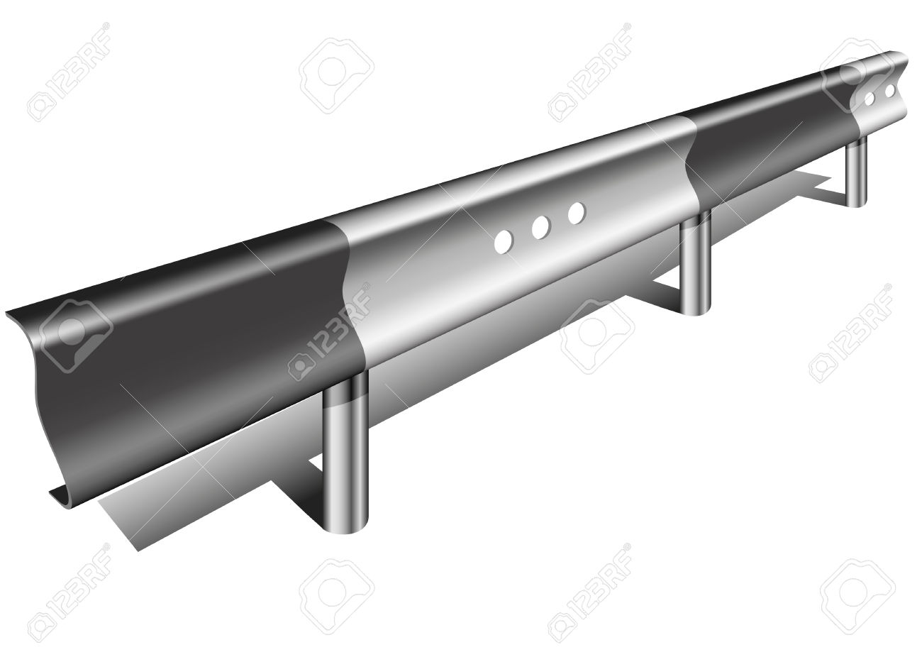 Detailed Illustration Of A Guardrail Royalty Free Cliparts.