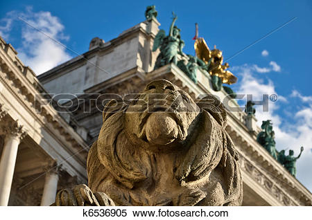 Stock Image of stone lion guard k6536905.
