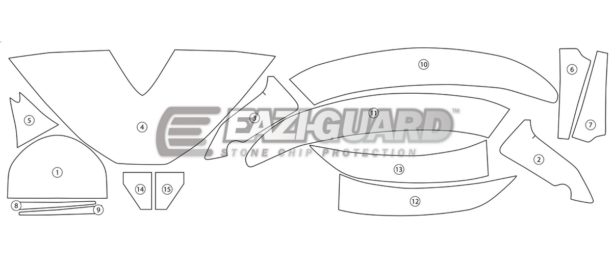 Eazi Guard Stone Chip Paint Protection Film for Honda CBR1000RR.