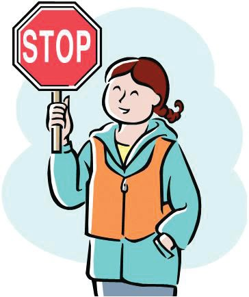 Crossing guard clipart.
