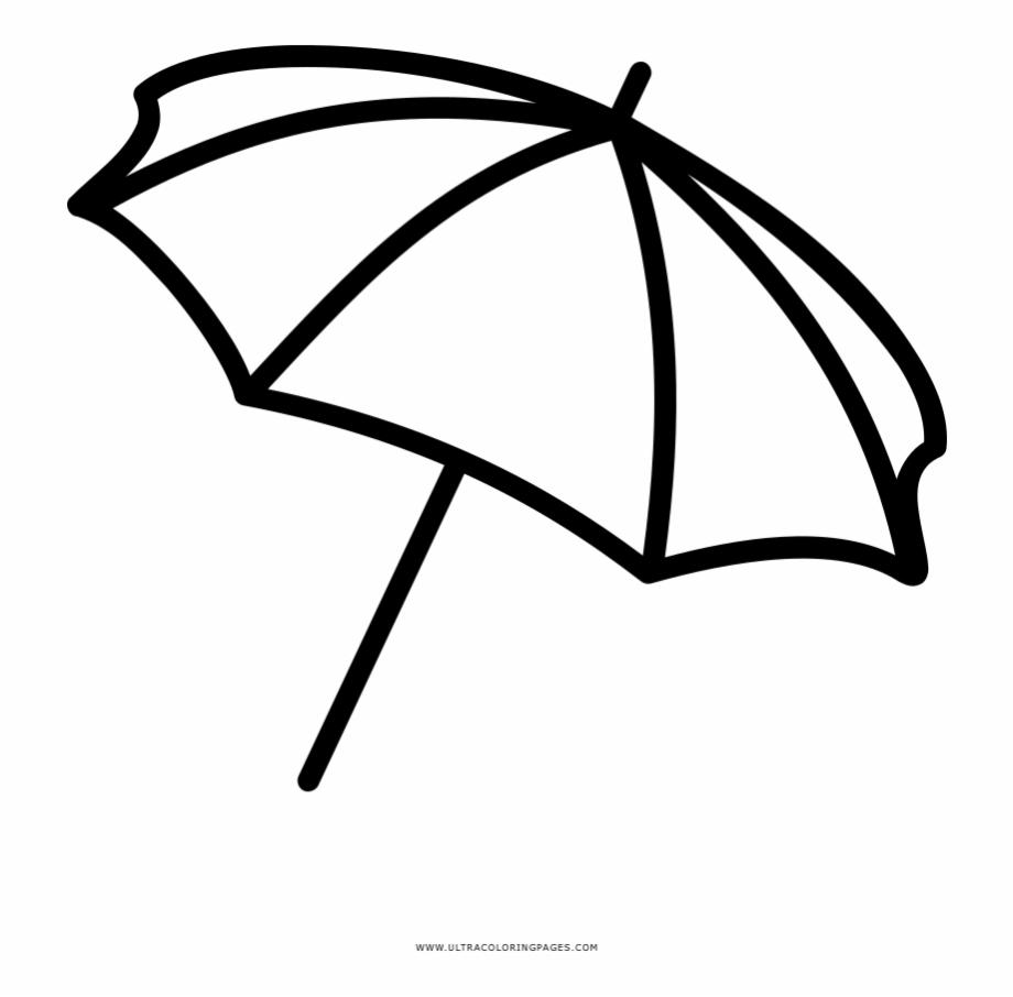 Beach Umbrella Coloring Page Desenho De Guarda Sol.