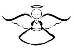 Free Guardian Angel Clipart Black And White, Download Free.