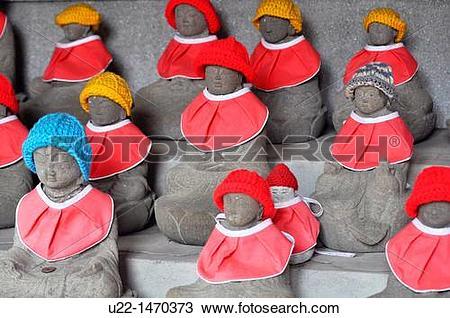 Stock Photo of Kyoto (Japan): doll guardian deities of children.