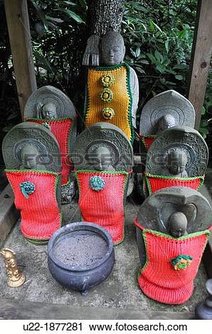 Stock Photography of Kamakura, Kanagawa, Japan, doll guardian.