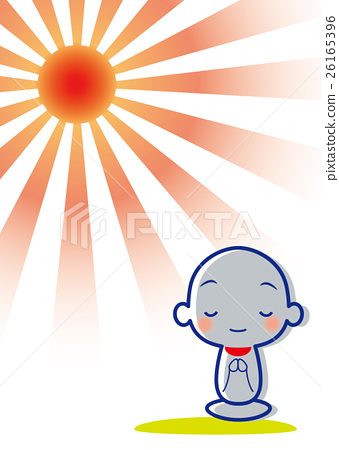 the first sunrise of the year, vector, guardian deity of children.