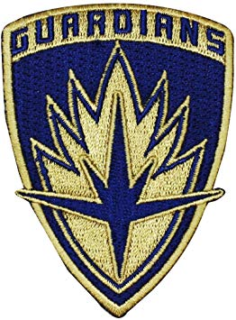 Guardians of The Galaxy Logo Patch Emblem Marvel Movie IronOn Applique.