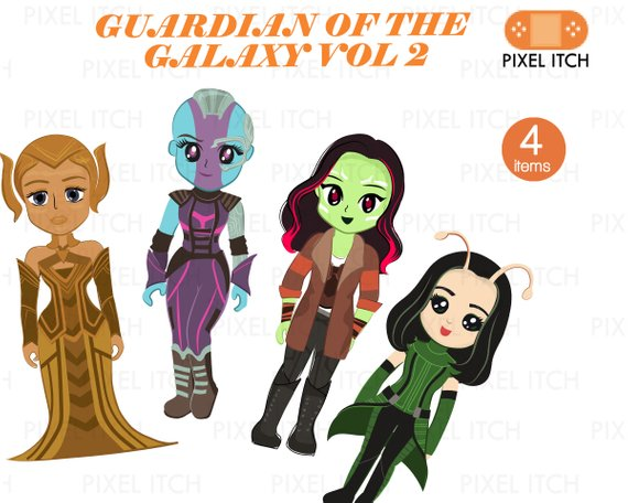 Guardian of The Galaxy Fan's Clipart. Female Superheroes.