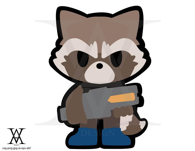 Rocket, guardians of the galaxy, clipart. INSTANT DOWNLOAD,  svg.