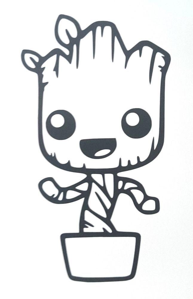 Guardians of the Galaxy Baby Groot, Van, Laptop, Scooter.