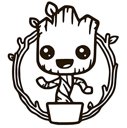 Baby Groot Cute Dancing Guardians of The Galaxy Vinyl Sticker Decal (3.6\