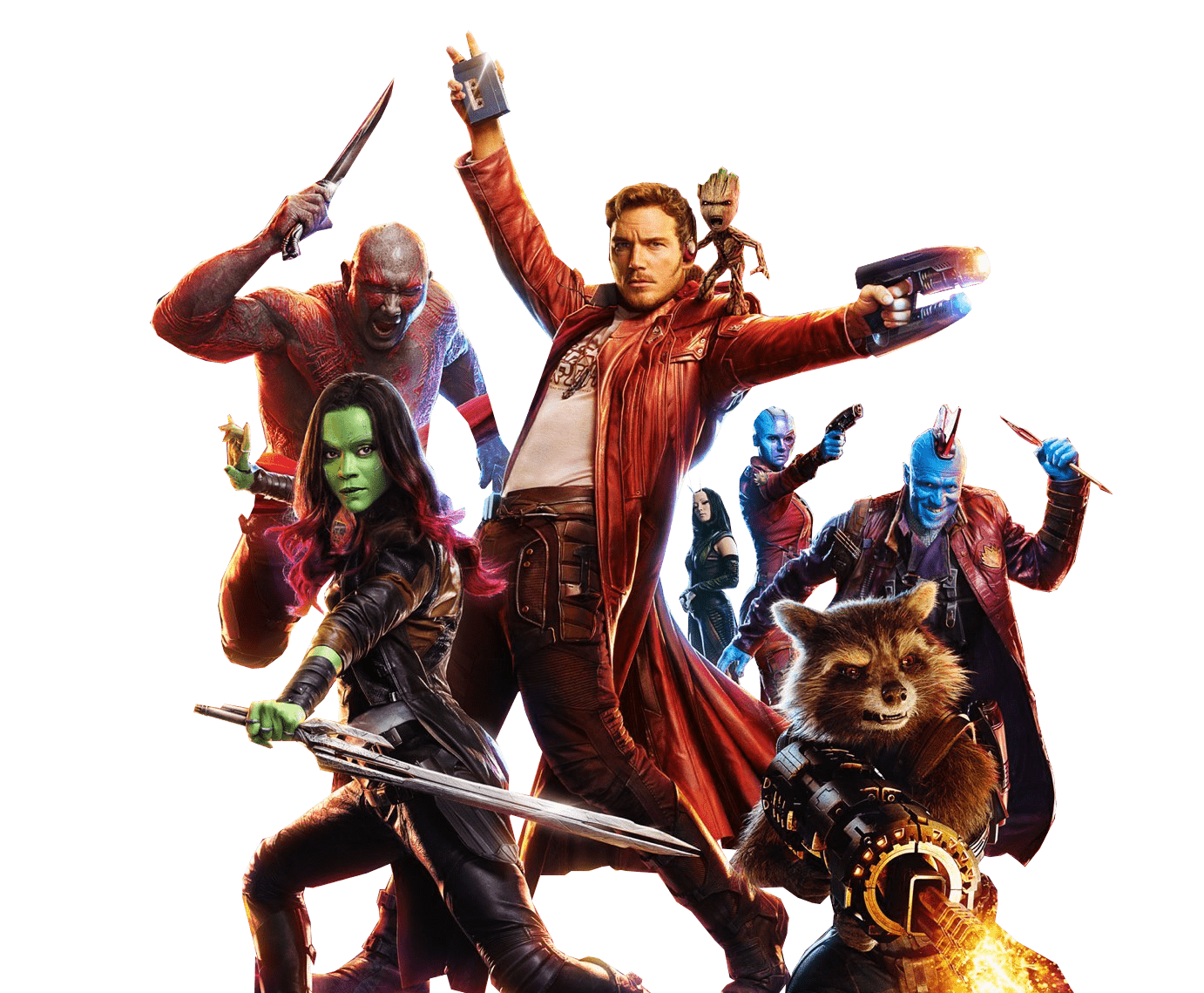 Guardians Of the Galaxy Group Image transparent PNG.