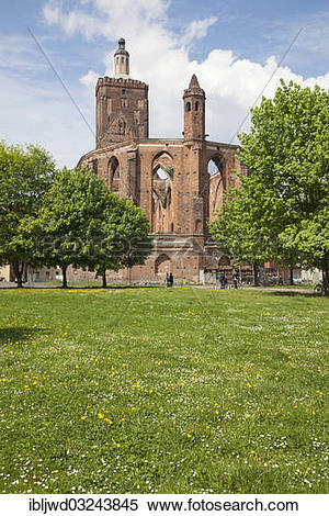 "Stock Image of ""Ruins of the Parish Church, Gubin, Lubusz."