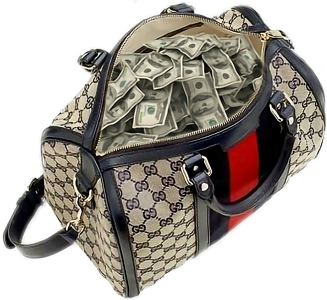 Handbag Chanel Gucci Money bag.