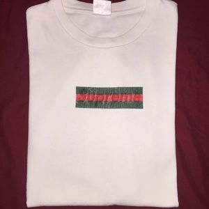 Supreme x Gucci Box Logo T Shirt.
