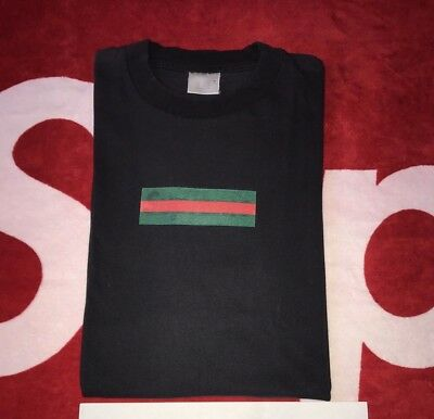 SUPREME GUCCI BOX logo t shirt black size Large Mint.