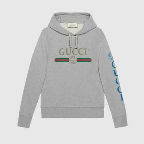Gucci logo sweatshirt with dragon.