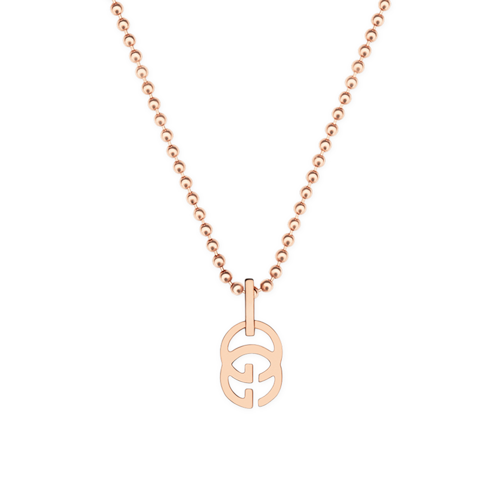 Running G 18ct Pink Gold Necklace.