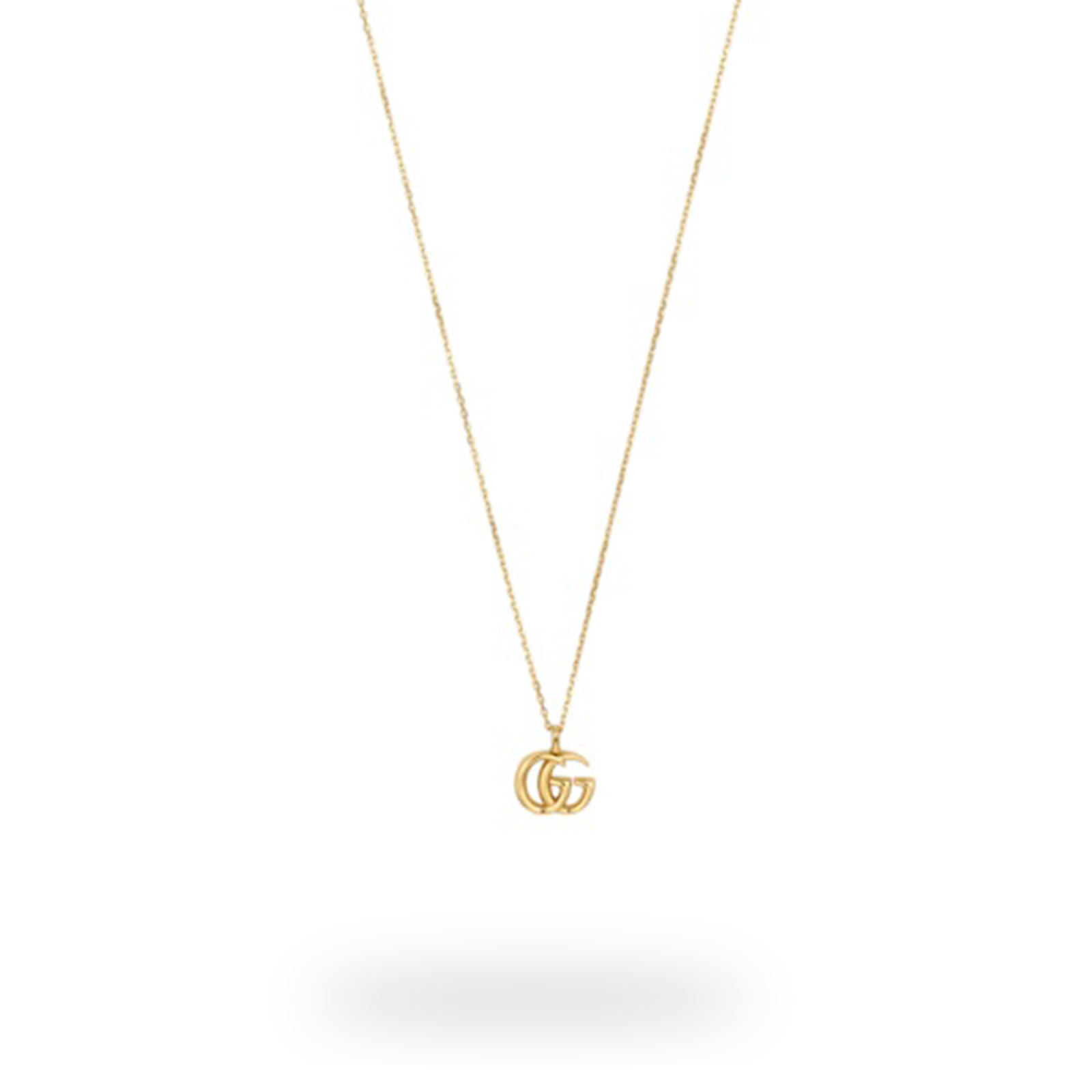 Gucci Small Double G 18ct Yellow Gold Necklace.