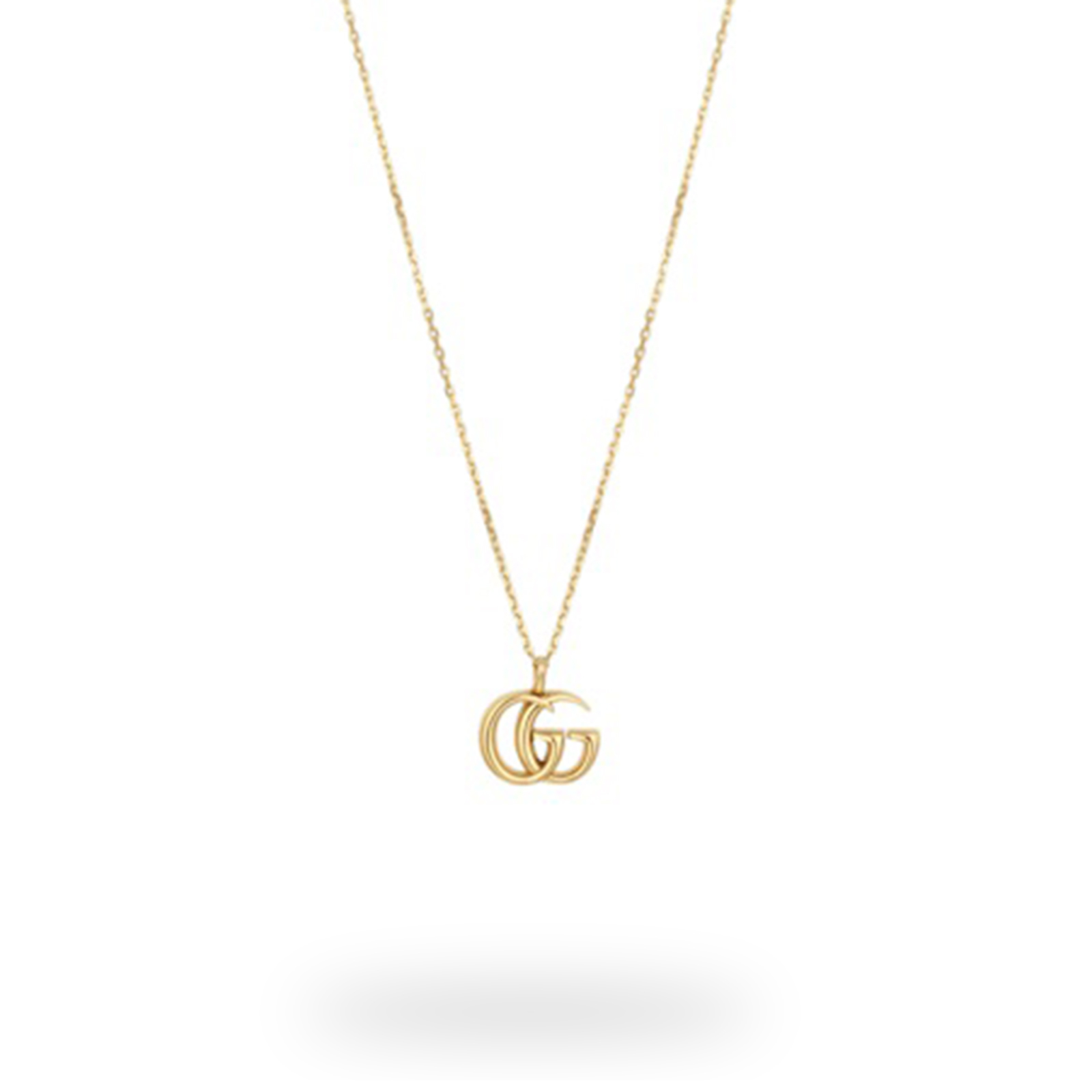 Gucci Large Double G 18ct Yellow Gold Necklace.