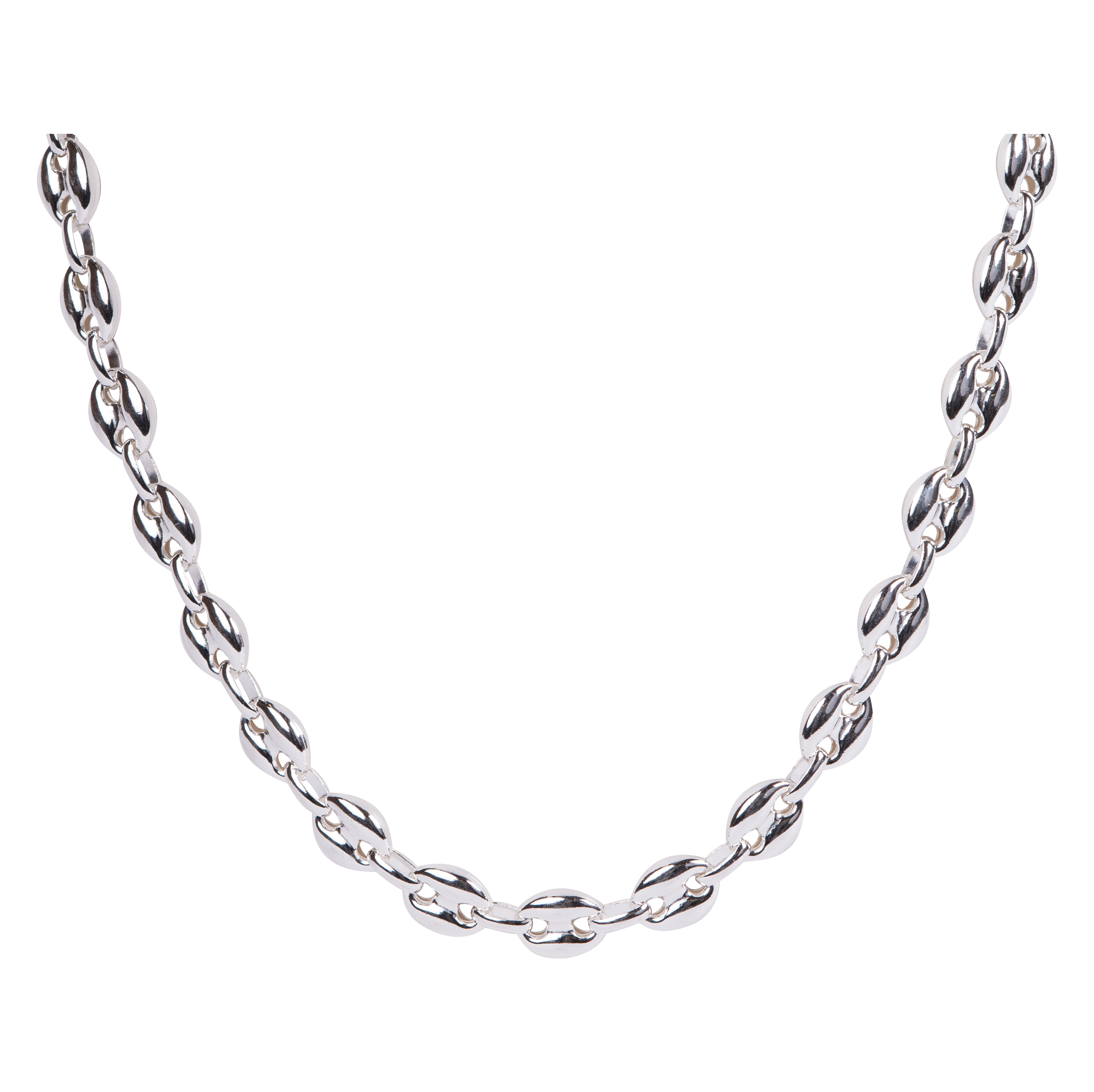 STERLING SILVER PUFFY GUCCI CHAIN.