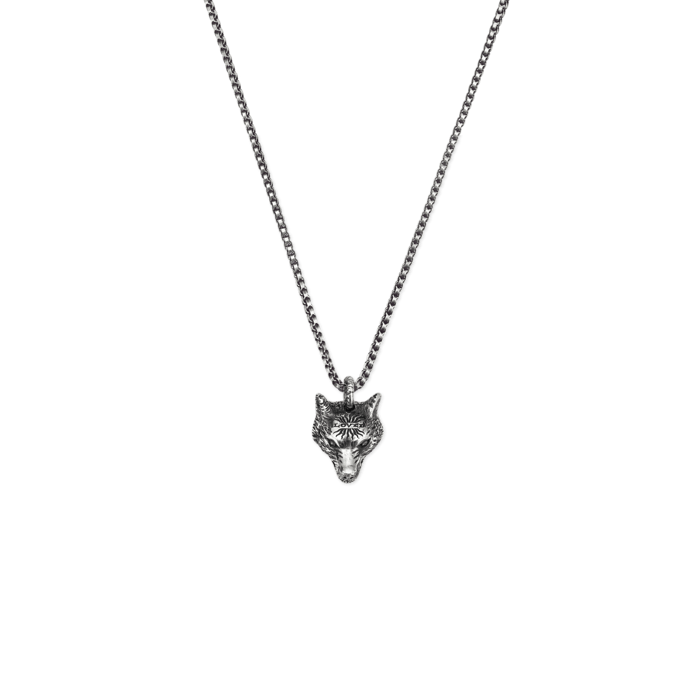 Angry Forest Necklace in Aged Sterling Silver.