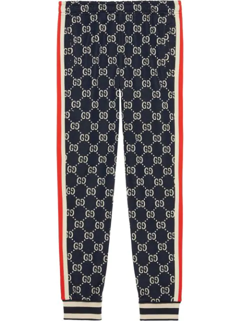 Gg Supreme Knit Cotton Jogger Pants.