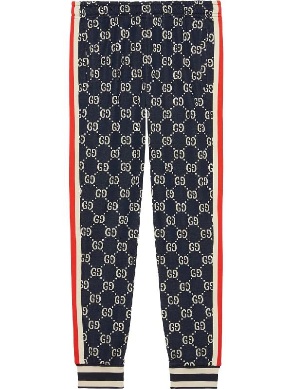 Gucci Gg Supreme Knit Cotton Jogger Pants.