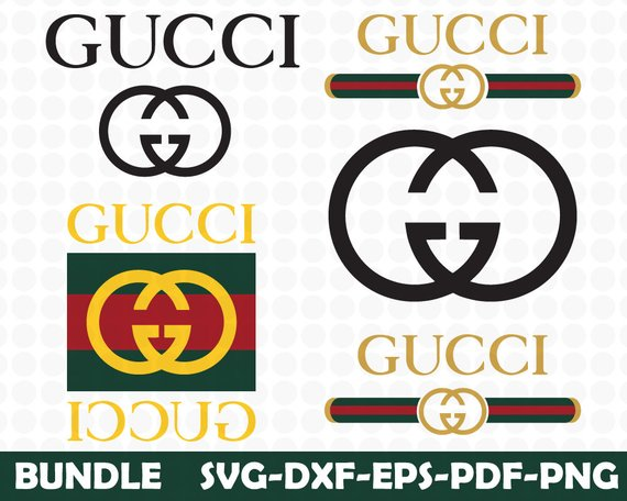 Gucci Svg,Gucci Gang Svg, Fashion Inspired Logo Vector Art.