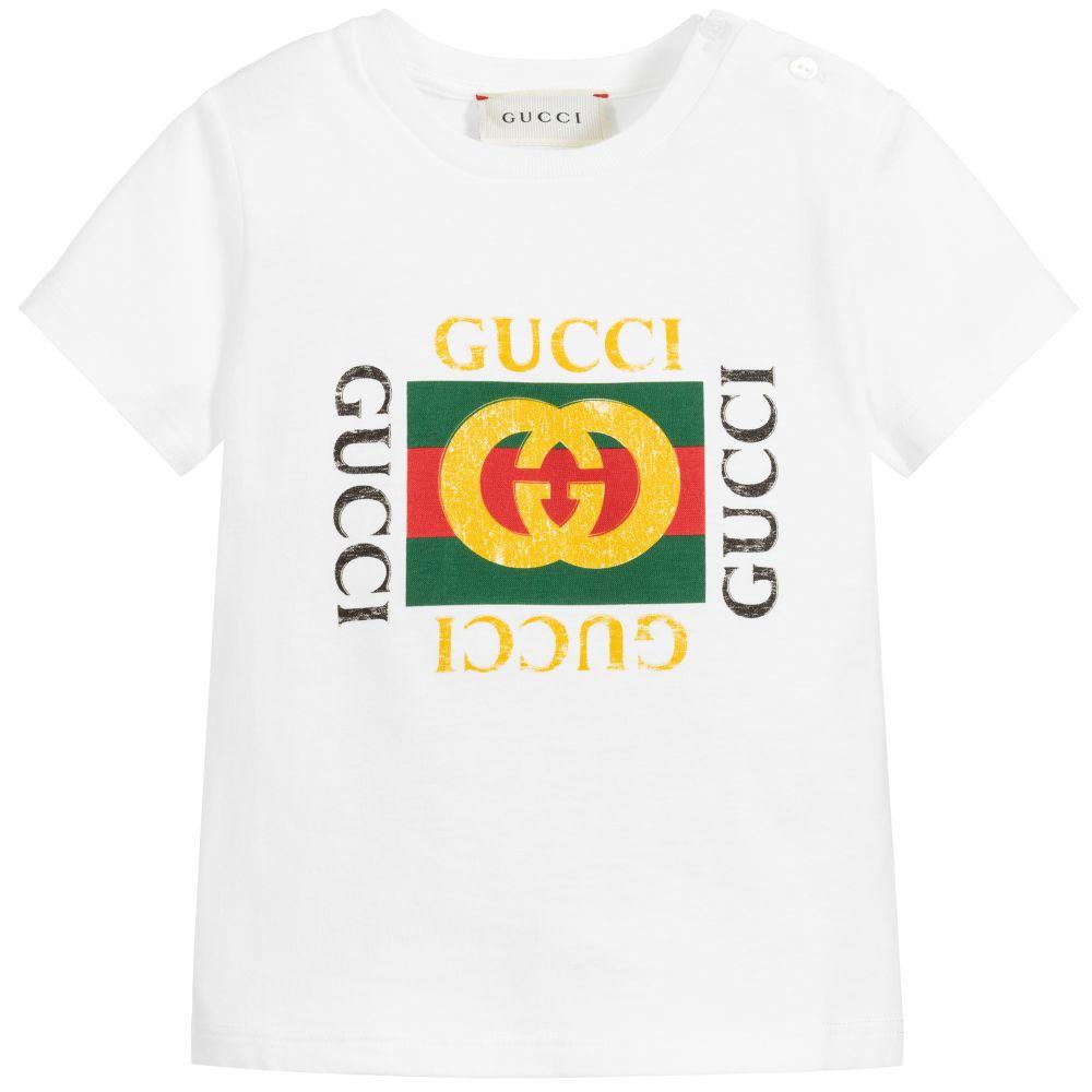 White Cotton Logo T.